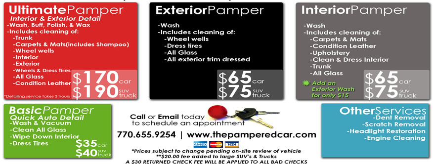 The Pampered Car :: Mobile Auto Detailing
